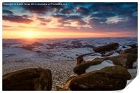 Sunset over Higger Tor, Print