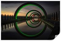 Green at the Falkirk Wheel, Print
