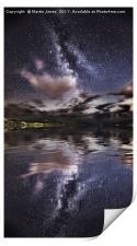 The Milky Way over the Ffraw Estuary, Aberffraw., Print