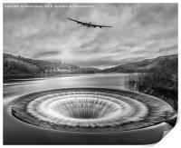Lancaster over Ladybower, Print