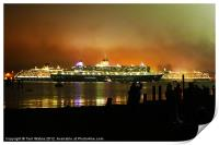 Cunard's Three Queens Diamond Jubilee Celebration, Print