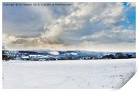 The Day It Snowed In Cornwall, Print