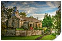 Saint Aidan's Church, Gillamoor., Print