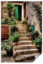 Courtyard Steps, Print