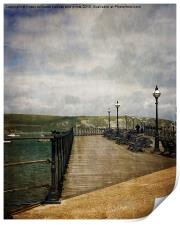 Textures On Swanage Pier, Print