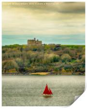 Sailing Past Pendennis, Colour Verion, Print