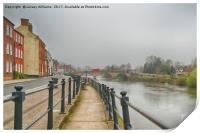 Along the River Severn, Print