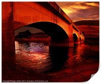 Yorkshire Bridge Sun Rise, Print