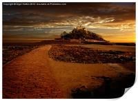 St Michaels Mount, Print