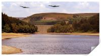Two Over Howden Dam, Print