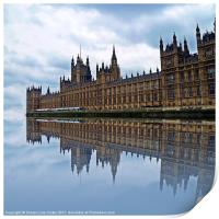 Westminster reflected, Print