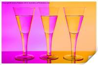 Pink n Peach Wine Glasses, Print