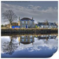 Reflection on Waterside, Print