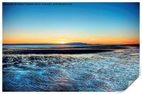 Sunset over Arran, Print