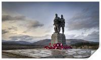 Commando Memorial, Spean Bridge, Print