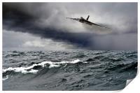 Avro Vulcan Black Buck One Atlantic attack run, Print