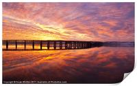 Tay Rail Bridge Dundee, Sunrise., Print