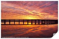 Tay Rail Bridge Dundee Sunrise., Print