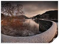 Carreg Ddu Winter Glow, Print