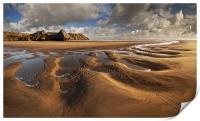 Three Cliffs Sand Pattern, Print