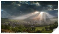 Brecon sunburst, Print