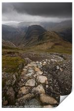 Hay Stacks Path, Print