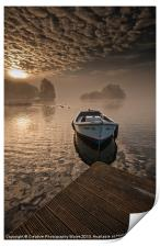 Llangorse Lake misty dawn, Print