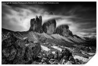 Tre Cime in the Dolomites , Print