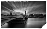 Westminster Bridge and Big Ben, Print