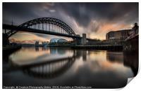 The Tyne Bridge, Newcastle Cityscape, Print