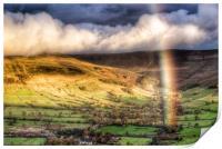 Rainbow over Edale., Print
