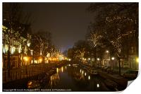 misty cold canals, Print