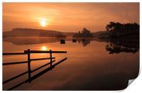 Knapps Loch Sunrise, Print