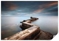 Pier Sunset, Print