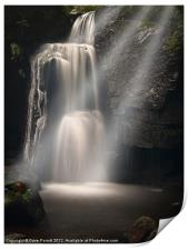 Lumsdale Valley Waterfall - Love, Print