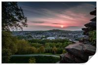 Kendal Sunset, Cumbria, Print