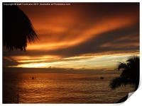 Sunset Sosua, Print