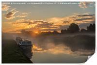 trent sunrise, Print