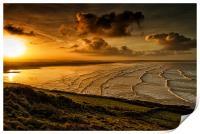 Surfer Sunrise, Print
