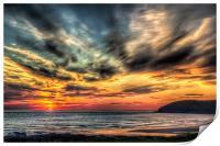Croyde Bay Sunset, Print