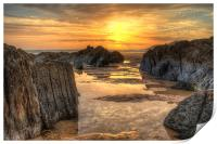 Coombesgate Beach, Print