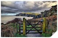Sandy Cove, Lee Bay, North Devon, Print