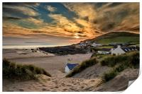 Croyde Bay Sunset, Print