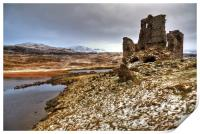 Ardvreck Castle in The Snow, Print