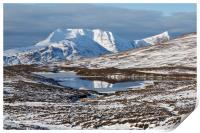 Ben More Coigach and Clar Loch Mor, Print
