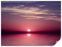 Mediterranean Twilight, Print