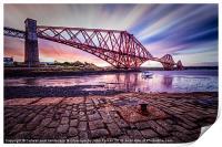 Forth Rail Bridge colour, Print
