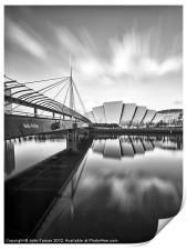 Canvas print Glasgow Armadillo and Bells Bridge, Print