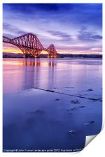Forth Rail Bridge colour sunrise, Print