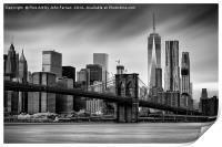 Brooklyn Bridge and trade centre, Print